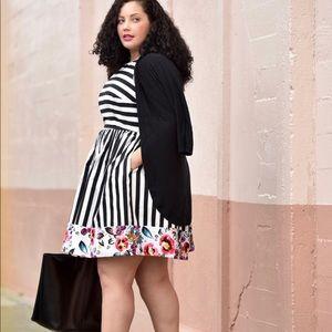 Striped floral patterned ModCloth Dress